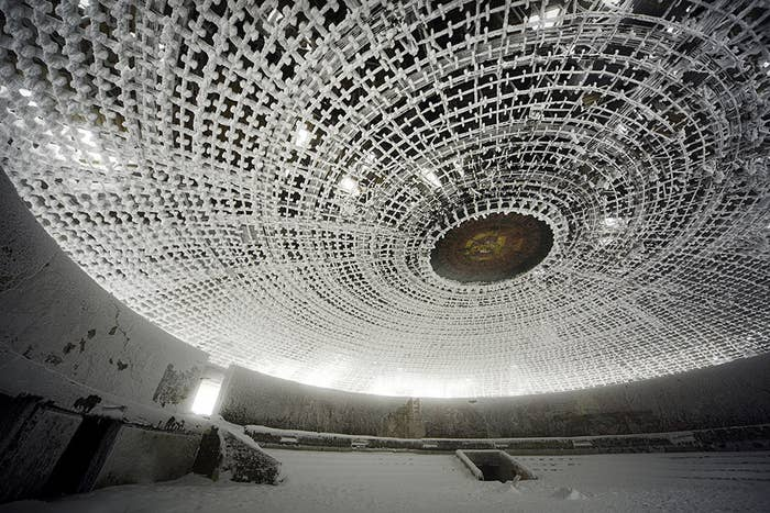 This spaceship-like HQ was closed in 1989, after the fall of Communism.
