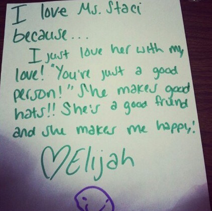 A loving letter.