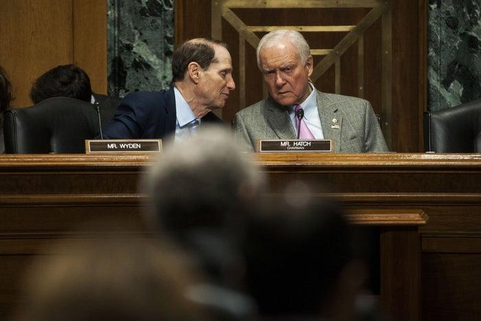 Senators Ron Wyden and Orrin Hatch