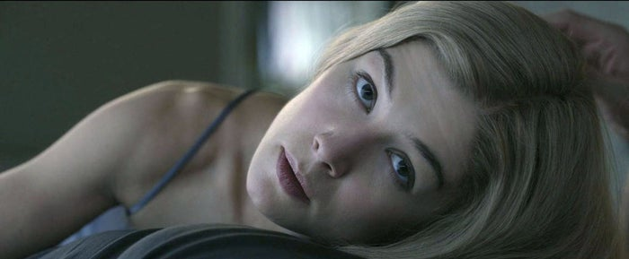Rosamund Pike as Amy Dunne in Gone Girl.