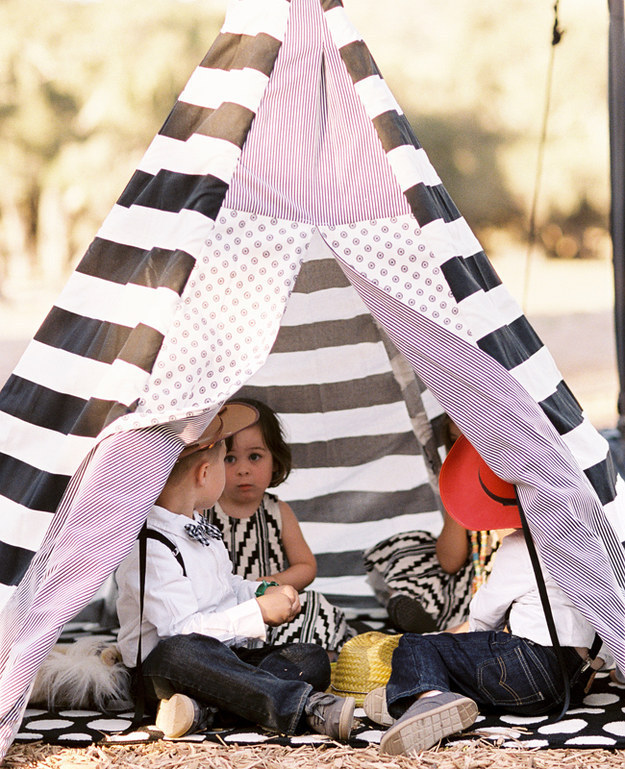 "Set up a ""kids only!"" tent."