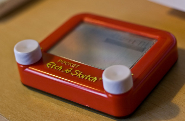 Gift each kid a pocket-sized Etch-A-Sketch.