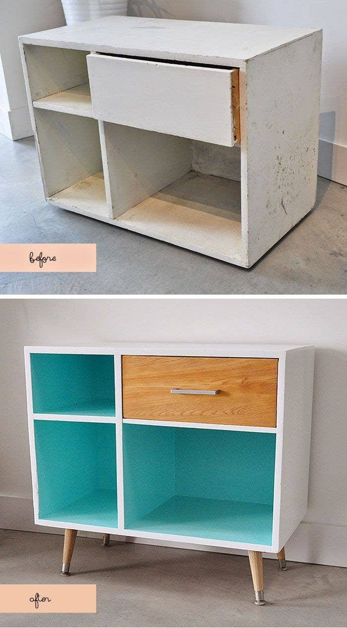 Legs Can Turn A Ratty Cabinet Into Mid Century Modern Wonder
