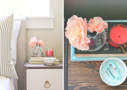 A beautiful use for those precious coffee filters, because you should switch to a French press anyway.