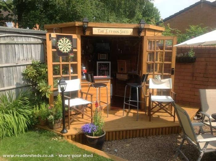It S A Backyard Shed That Was Turned Into Pub