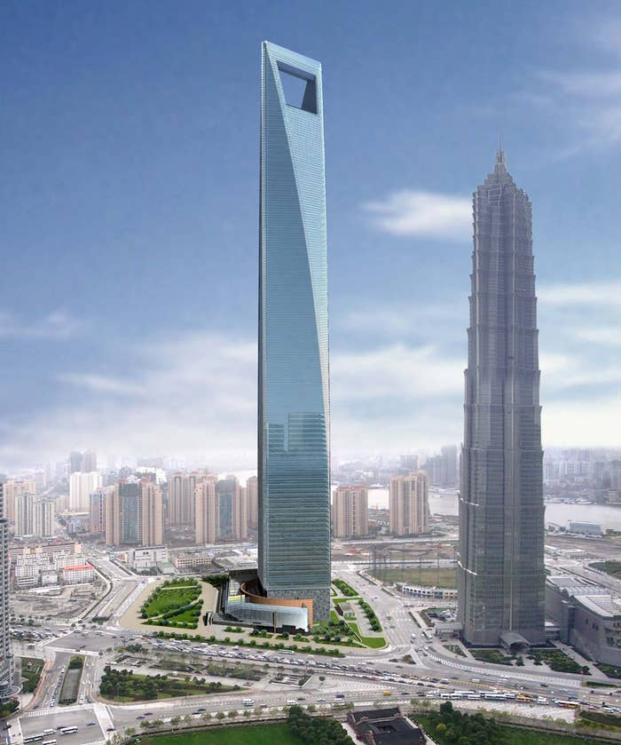 According to Travel China Guide, it houses offices, a hotel, museum, observation, parking garage and retail shops.
