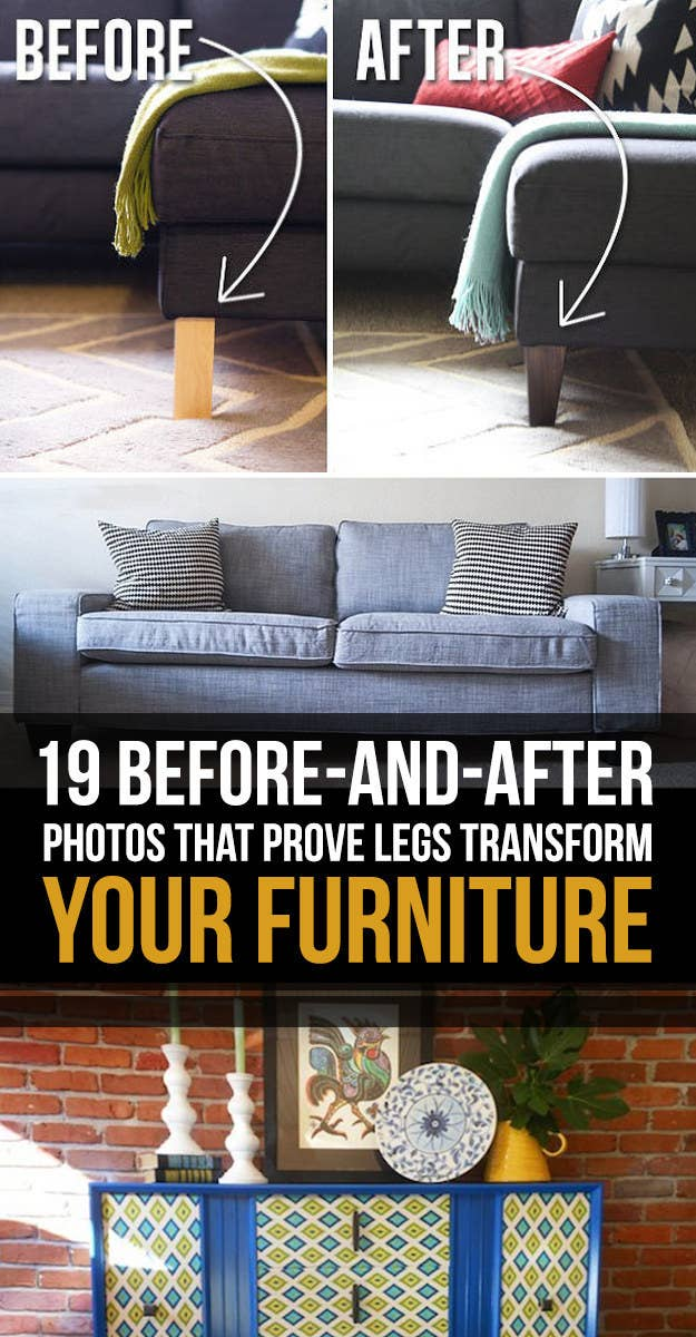 19 Furniture Makeovers That Prove Legs, Can You Change The Legs On Your Sofa