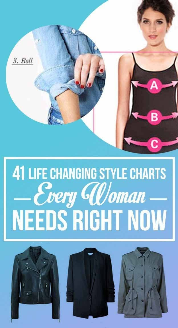 07bbcc43c1a 41 Insanely Helpful Style Charts Every Woman Needs Right Now