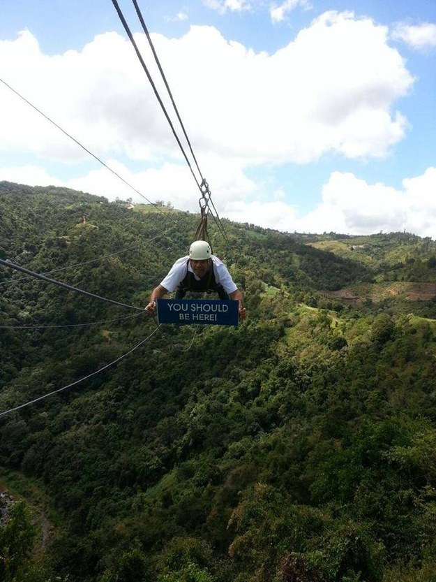 They only have one of the world's longest single-run zip lines. Big whoop.