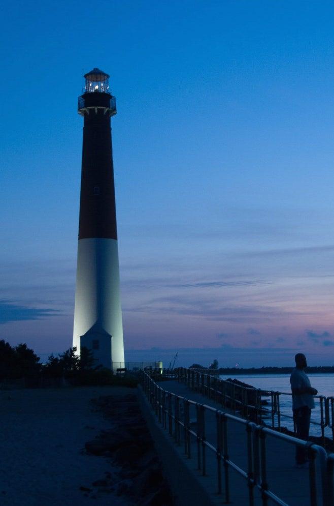Barnegat Bay lighthouse in Long Beach Island