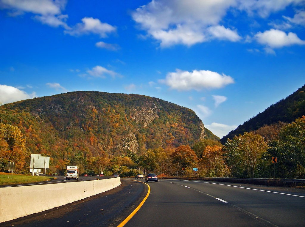 View of the Delaware Water Gap, Interstate 80