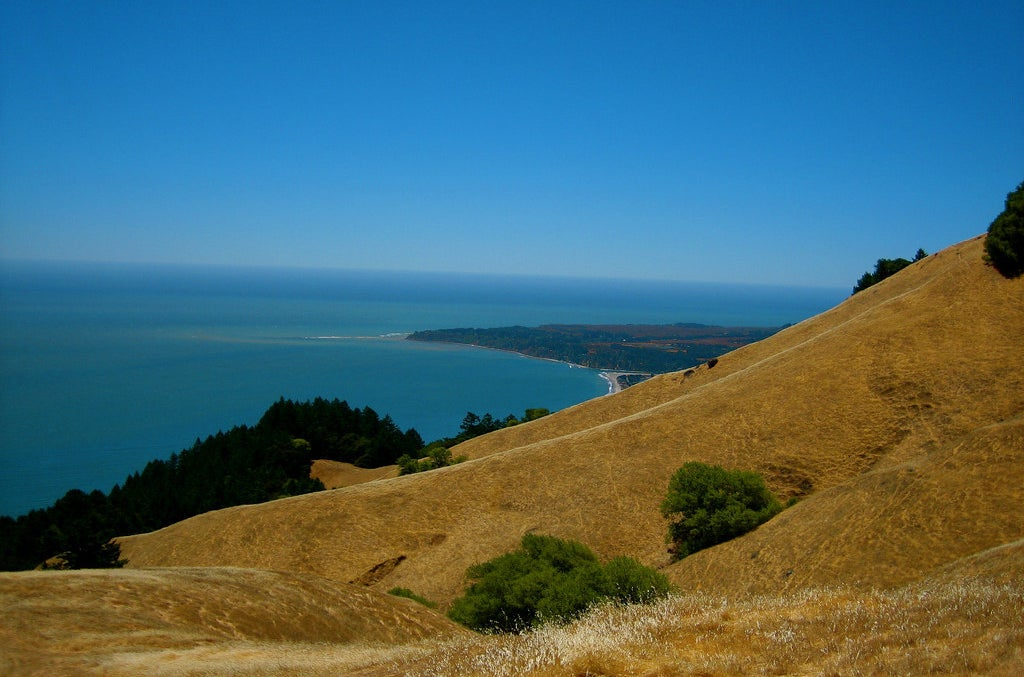 The view from the Marin Headlands, just north of San Francisco city.
