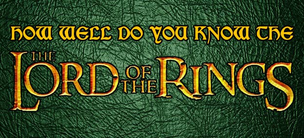 20 trivia questions only true lord of the rings will be able to answer