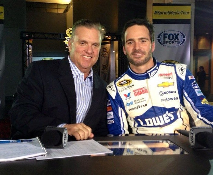"""""""Cancer is in me but it doesn't own me."""" This statement from Byrnes sums up how he is dealing with cancer for the second time. Steve has worked for Fox Sports for the past 14 years, and has hosted several shows that cover the world of NASCAR."""