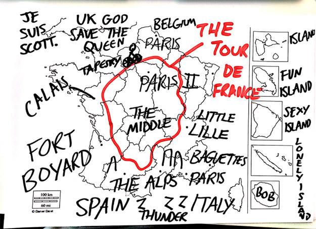 On a demandé à des Britanniques de remplir une carte de la France