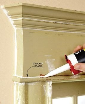 Caulk and repaint your moldings so they look like new.