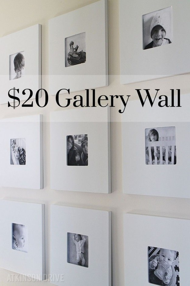 Make a classy gallery wall for $20 or less.