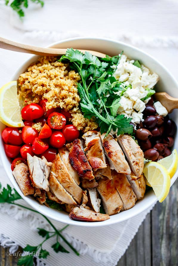 25 quinoa recipes that are actually delicious balsamic chicken salad with lemon quinoa forumfinder Image collections