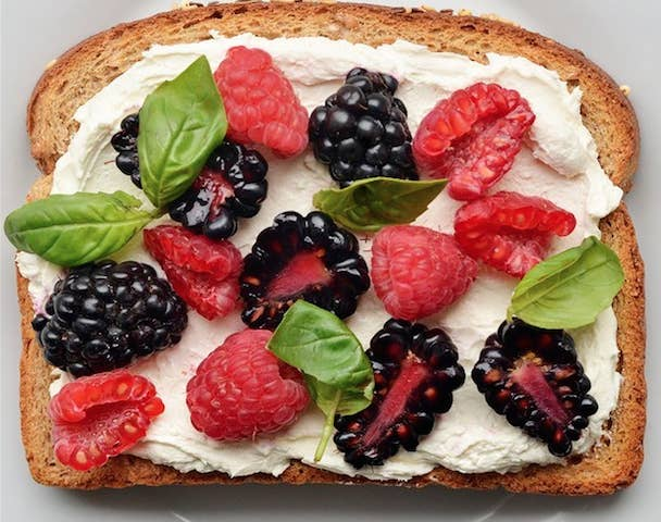 About 176 calories and 5 grams of protein. Get even more toast ideas here.