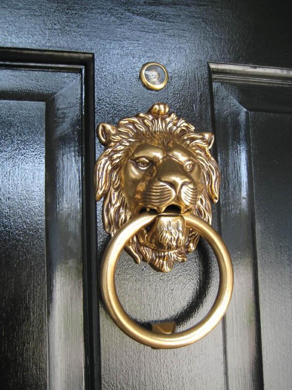 Add a stylish door knocker.