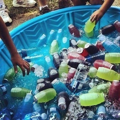 Or Use A Kiddie Pool So All The Drinks Are Visible And Accessible