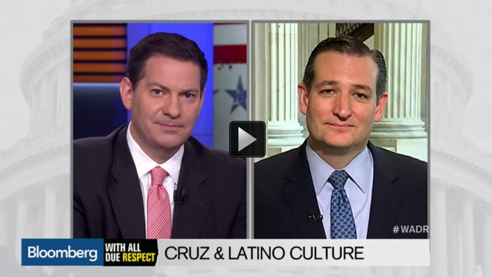 """The interview started out relatively normal, then Halperin began quizzing Cruz about his Cuban heritage, including questions """"You got a favorite Cuban food, Cuban dish?"""" and """"Do you have a favorite Cuban singer?"""" and asking him to welcome Bernie Sanders into the presidential race """"en Español.""""But nothing really happened after the interview! Besides Rush Limbaugh, no one on the internet seems to have noticed this happened for... nine days."""
