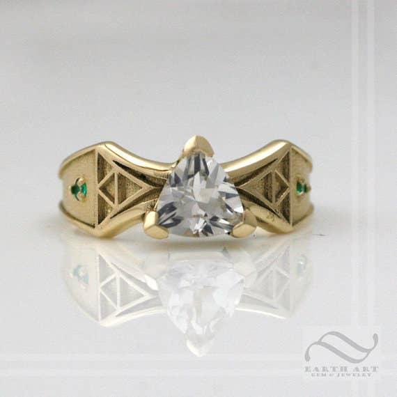 the legend of zelda ring 810 - Nerd Wedding Rings