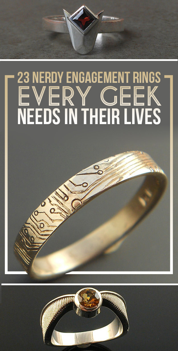 23 Geeky Engagement Rings That Are Beyond Perfect