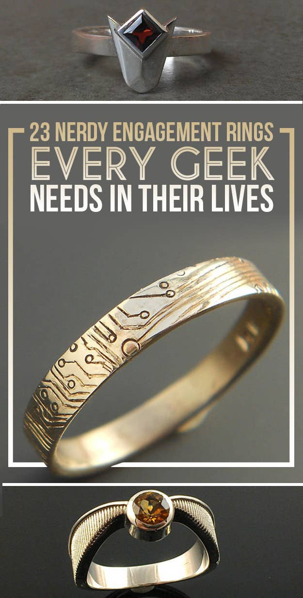 Nerdy Wedding Rings.23 Geeky Engagement Rings That Are Beyond Perfect