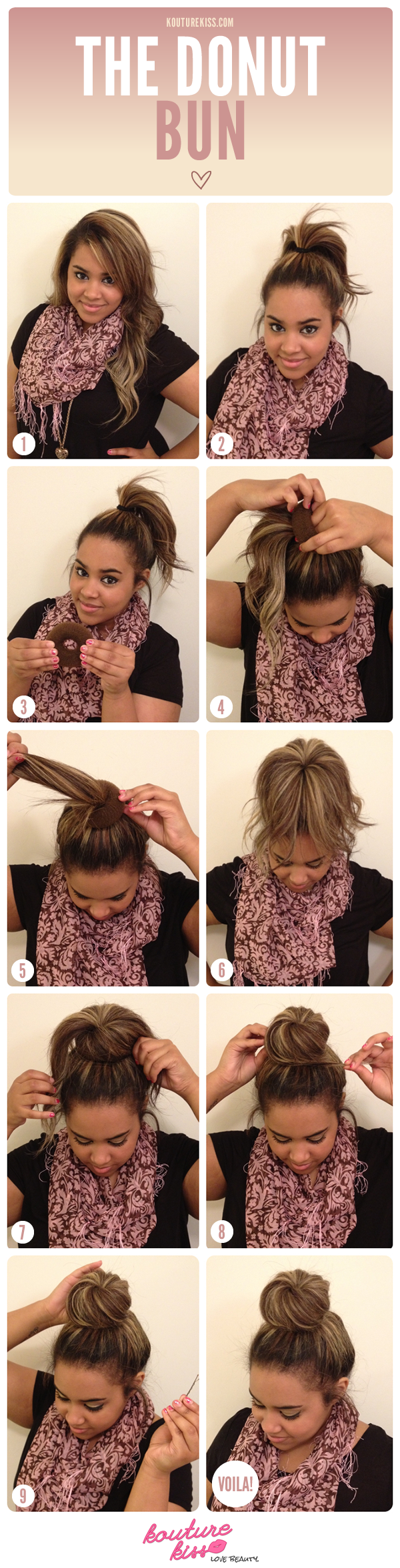 For the perfect ballerina bun, try a hair donut.