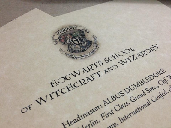 Find The Template For Your Hogwarts Letter And School Supplies List Here.  Add Your Name
