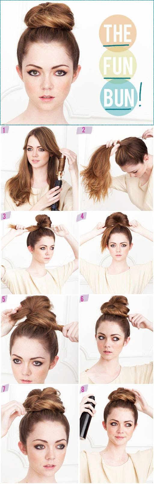 Wrap Hair Around The Base For A Sturdier Messy Bun