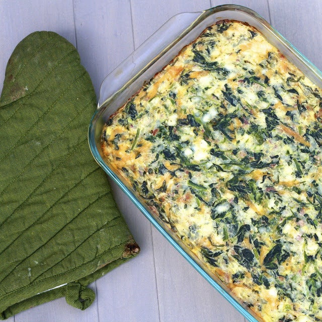 Loaded with about 22 grams of protein, thanks to the spinach, cottage cheese, eggs, and bacon. Get the recipe here, via The Sweet Life.