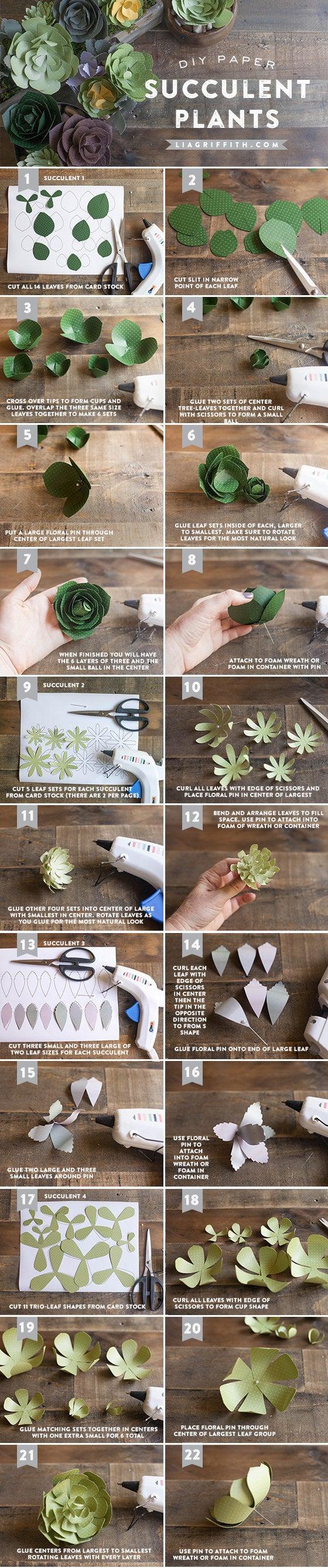 Podrías hacer un montón de estos y convertirlos en una corona de flores. Descargue la plantilla y obtenga el tutorial completo en Lia Griffith.