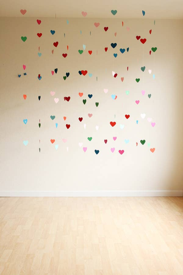 5 Floating Heart Curtain