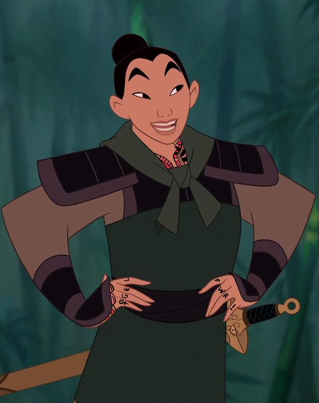 If Disney Princesses Had Tattoos