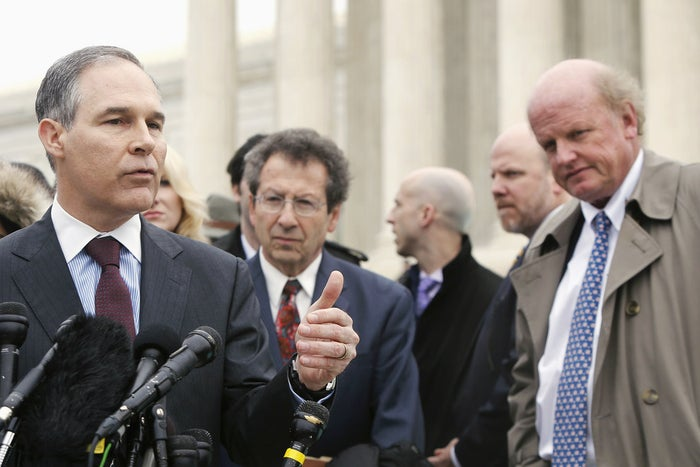 Attorney General of Oklahoma Scott Pruitt outside the Supreme Court building on March 4, 2015.