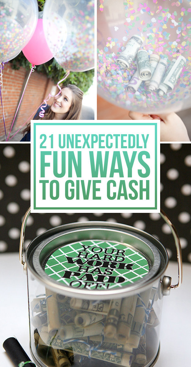 Wedding Gift For Brother Cash : 21 Surprisingly Fun Ways To Give Cash As A Gift