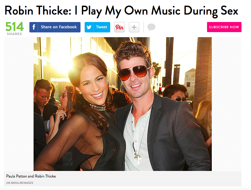 Robin thicke sex therapy ripped
