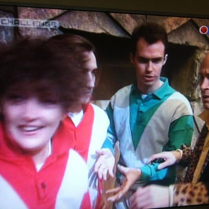 Richard O'Brien, far right, next to Ken Day, team captain on the first ever episode.