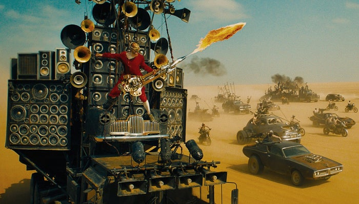 iOTA as the Doof Warrior in Mad Max: Fury Road.