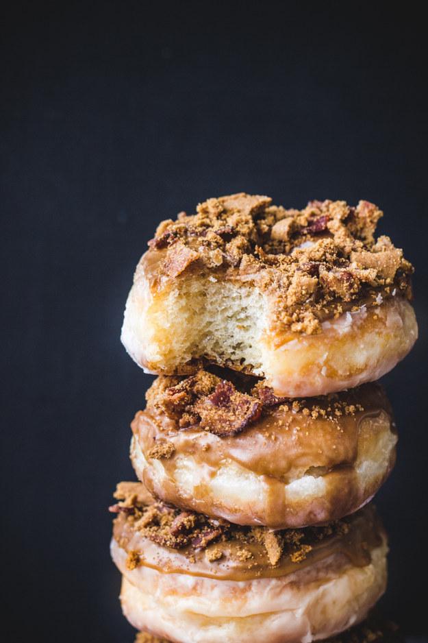 Coffee-Biscoff-Bacon Doughnuts