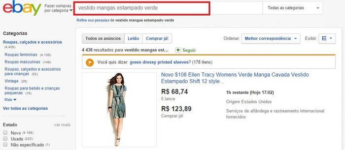 1bb70e0c6a Seja criativa nos termos de busca de sites como eBay e AliExpress para  encontrar exatamente o que quer.