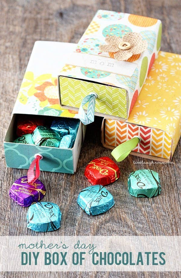Make A DIY Box For Your Moms Favorite Bon Bons