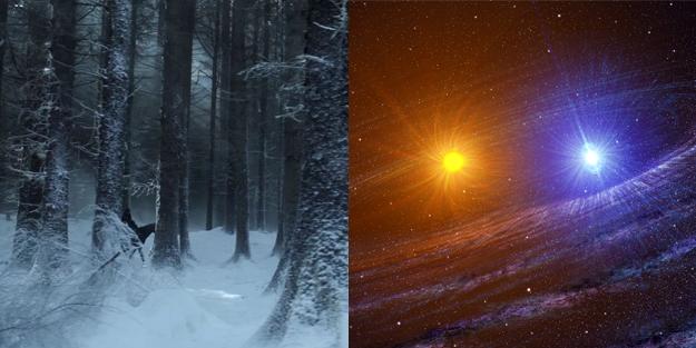 El invierno es un evento para el que todo Westeros se prepara pero nadie sabe cuándo llegará. Dependiendo de a quién le preguntes, el invierno en Westeros podría durar un par de años o generaciones enteras.¿Qué genera estos cambios de temporada tan irregulares?Un grupo de alumnos de la Universidad John Hopkins publicó un estudio donde proponían que el planeta de Game of Thrones vive atrapado en un sistema solar binario, moviéndose entre la trayectoria de dos estrellas que se orbitan la una a la otra. Bajo tales condiciones, por la entropía misma del sistema, sería imposible predecir la llegada de las temporadas.
