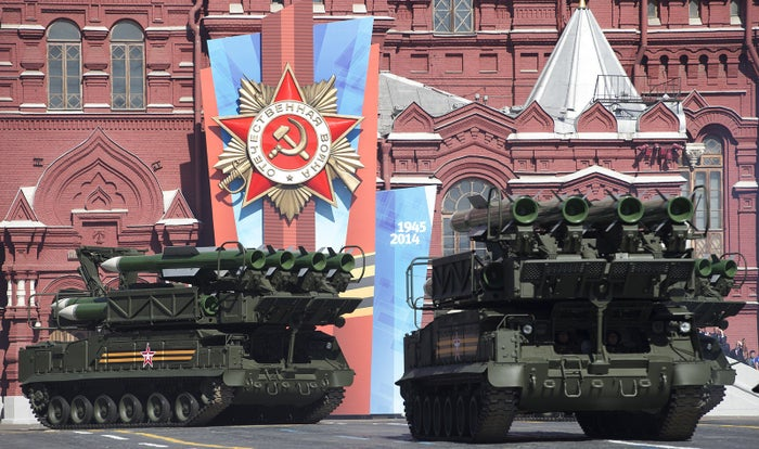A Russian military parade last year in Red Square.