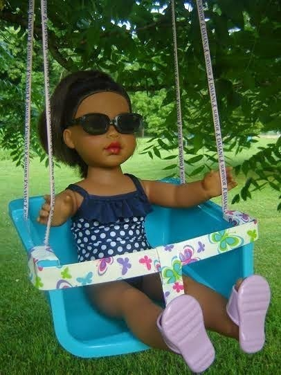American Girl dolls need to enjoy the summer, too. Find the DIY here.