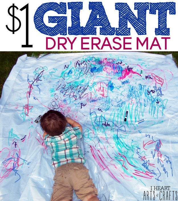The best part about this is that the markers wipe off, so your kid can start over again the next day! Find out more here.