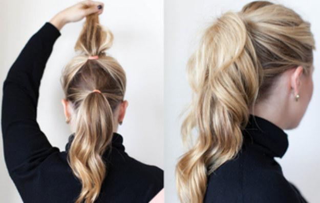 Peinados faciles coleta alta