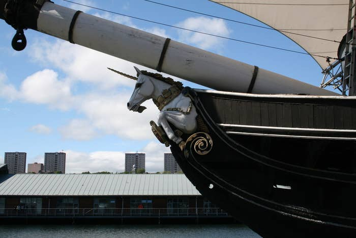 The beautiful HMS Unicorn has been based in Dundee since 1825, and is the sixth-oldest ship in the world. Impressive.